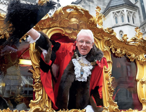 Our Patron Alderman Andrew Parmley receives a Knight Batchelor